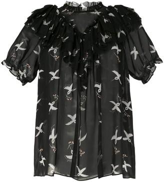 macgraw Migration Bird Print blouse