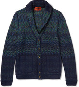 Missoni - Shawl-collar Patterned Wool-blend Cardigan