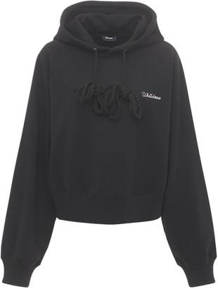 we11done Logo Crop Sweatshirt Hoodie