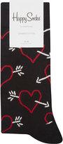 Happy Socks Arrow And Heart Cotton-blend Socks