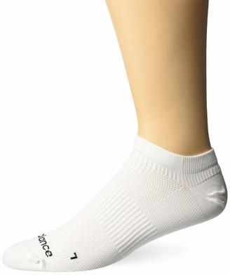 New Balance 1 Pack Run Foundation Flat Knit No Show Socks