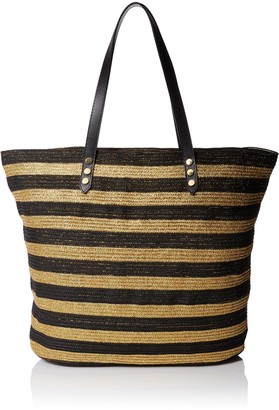 San Diego Hat Company Women's Tote Bag with Interior Zippered Pocket and Metal Snap Closure