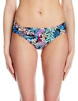 Kenneth Cole New York Women's Tropical Tendencies Floral Tab Side Hipster Bikini Bottom