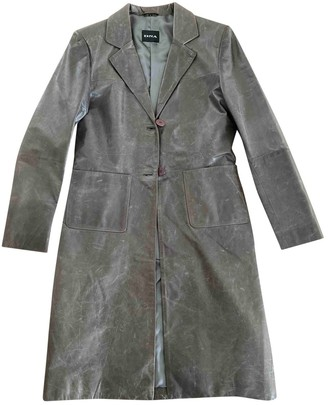 Dna Grey Leather Jacket for Women