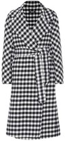 Max Mara S Zanora checked virgin wool coat
