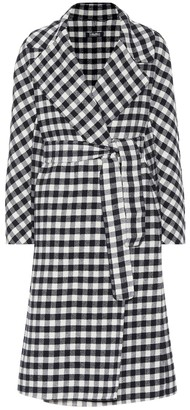 S Max Mara Zanora checked virgin wool coat