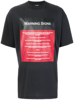 Raf Simons Warning Signs T-shirt