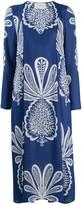 La DoubleJ pineapple print long dress