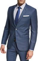 BOSS Micro-Check Wool Sport Coat, Light Blue