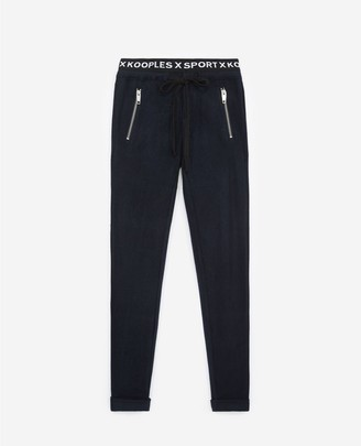 The Kooples Yoga blue joggers with band
