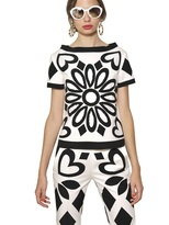 Moschino Crepe De Chine And Stretch Cotton Top