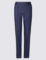 Classic Pull on Mid Rise Slim Leg Jeans