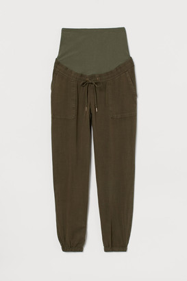H&M MAMA Lyocell-blend Joggers - Green