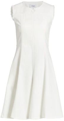 Akris Punto Sleeveless Denim A-Line Dress