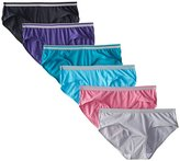 Fruit of the Loom Women's 6 Pack Heather Low-Rise Hipster Panties, Assorted Colors