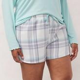 Lauren Conrad Plus Size Woven Dolphin Pajama Shorts
