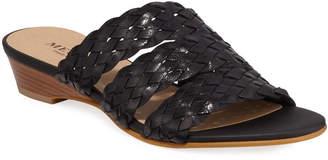 Sesto Meucci Gale Woven Demi-Wedge Slide Sandals