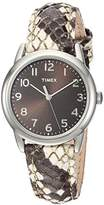 Timex Women's TWH2Z8510 Black/White Python Patterned Leather Strap Watch