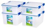 Iris Ziploc WeatherShield Storage Box - 4 PC Stacking Set - 26.5 Qt & 44 Qt