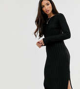 Asos Tall DESIGN Tall fine knit ribbed midi dress in recycled blend