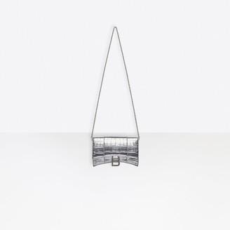 Balenciaga Hourglass Mini Wallet On Chain