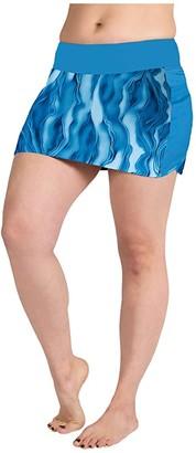 SkirtSports Skirt Sports Swim Skirt (Lagoon Print) Women's Swimwear