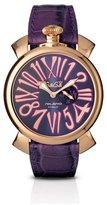 GaGa MILANO Men's Slim 46mm Leather Band Quartz Analog Watch 5085.03