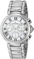 Edox Women's 10220 3M AR LaPassion Analog Display Swiss Quartz Silver Watch