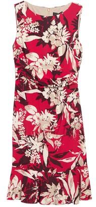 DKNY Patterned Boatneck Sheath Dress