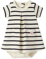 Petit Bateau Baby girl striped bodysuit dress