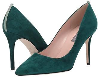 Sarah Jessica Parker Fawn 90mm (Leopard Glitter Velvet) Women's Shoes