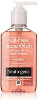 Neutrogena Oil-Free Acne Wash Facial Cleanser, Pink Grapefruit, 6 Ounce (Pack of 3)