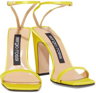 Sergio Rossi Satin Sandals