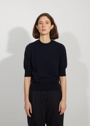Margaret Howell Cashmere & Cotton Crop Sleeve Sweater