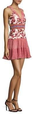 Saloni Amy Silk Short Dress