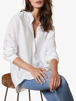 Mint Velvet Longline Open Collar Shirt