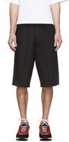 DSQUARED2 Black Racing Stripe Shorts