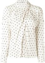 Cacharel draped polka dot shirt