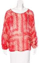Rachel Zoe Silk Long Sleeve Top