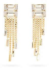 Rosantica Osiride Crystal And Chain Drop Earrings - Womens - Crystal