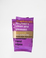Anatomicals England's Clean & Pleasant Hand - Hand Wipes 2 x 15 Packs