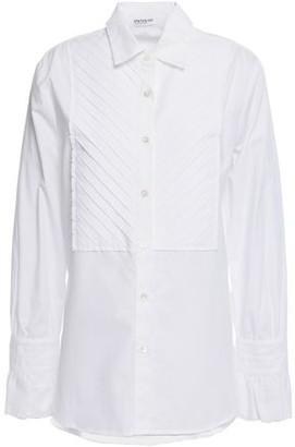 Stateside Pintucked Cotton-poplin Shirt