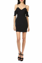 Jay Godfrey Black Cold-Shoulder Mini