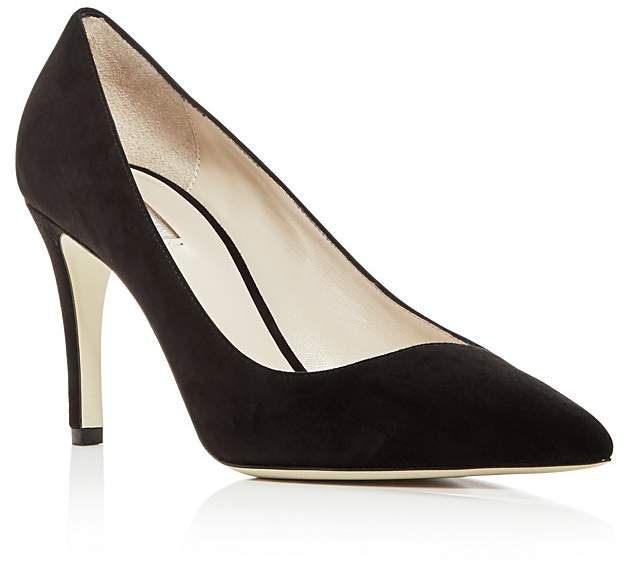 Giorgio Armani Women's Suede Pointed Toe Pumps