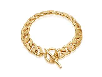 Missoma Lucy Williams Gold T Bar Chunky Chain Bracelet - 18ct Gold Plated
