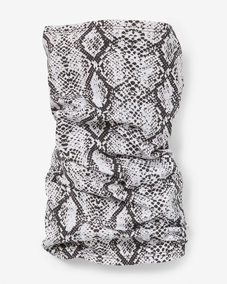 Express Snakeskin Print Face Covering