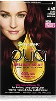 Garnier Olia Oil Powered Permanent Hair Color, 4.60 Dark Intense Auburn (Packaging May Vary)