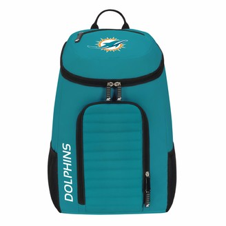 """Northwest Officially Licensed NFL Miami Dolphins """"Topliner"""" Backpack Black 19"""" x 7"""" x 11"""""""