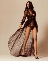 Agent Provocateur Deziree Gown And Bustle Black