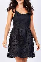 Sass NEW Womens Short Dresses Laser Cut Party Dress Black
